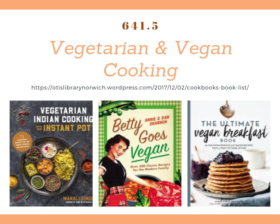 Cookbooks vegetarian and vegan